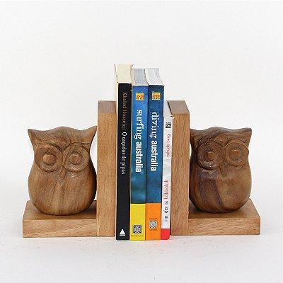 Apara Livro Coruja Frente 18 Cm Cj(2) - Grouper