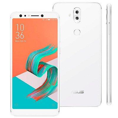 "Smartphone Asus Zenfone 5 Selfie Pro Branco 128GB, Tela 6.0"", 4GB RAM, Processador Octa Core e Android 7.0"