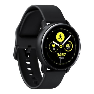 "Smartwatch Samsung Galaxy Watch Active Preto com Tela Super Amoled de 1.1"", Bluetooth, Wi-Fi, GPS, NFC"