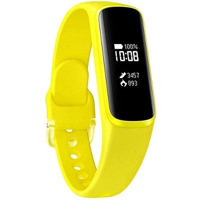 Smartband Samsung Galaxy Fit E Pulseira de Silicone Monitor Cardíaco - Amarelo