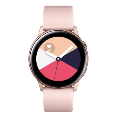 "Smartwatch Samsung Galaxy Watch Active Rosé com Tela Super Amoled de 1.1"", Bluetooth, Wi-Fi, GPS, e Frequência Cardíaca."