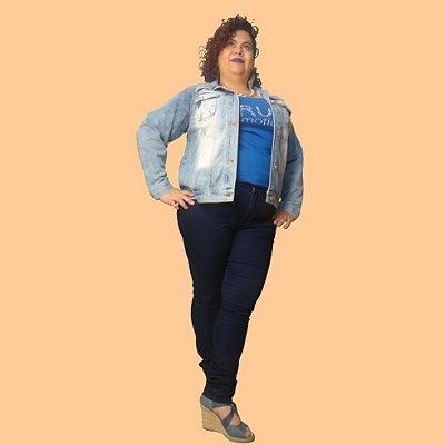 Calça Super Skinny Jeans kidman plus size
