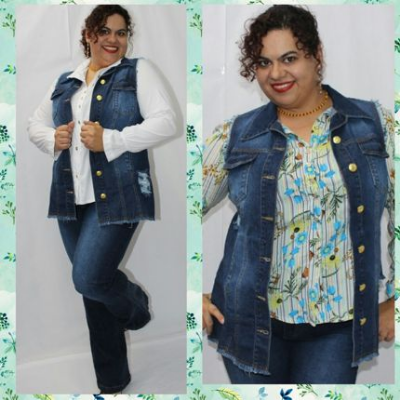 Colete Maxy Jeans SEATTLE - Oversize plus size