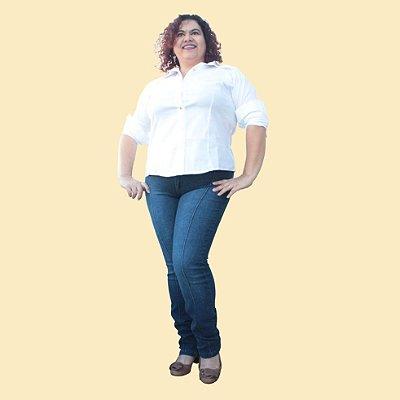 Calça Skinny Jeans com friso KALIL Blue Jeans
