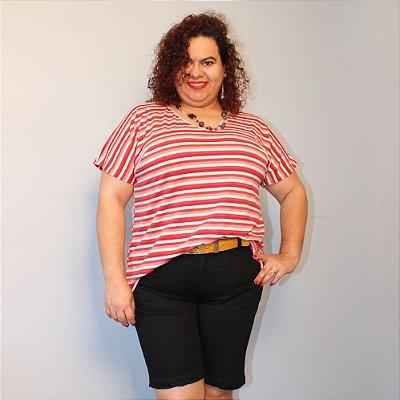 Bermuda Longuinha Jeans Preta Manoela