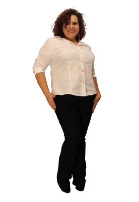 Calça Flare Social Executive - Power strech - Malha macia Plus Size