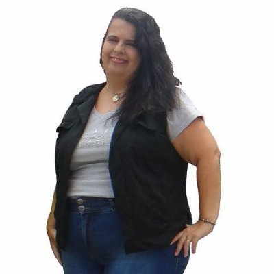 Colete black Jeans Leve Black - Preto Slim& Plus Size