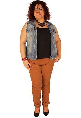 Colete Jeans Lavagem Clara Ritalee