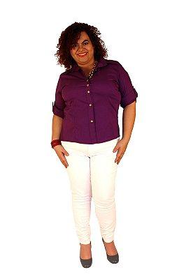 Camisa Algodão com elastano manga longa Ultra Violet -  WATSON