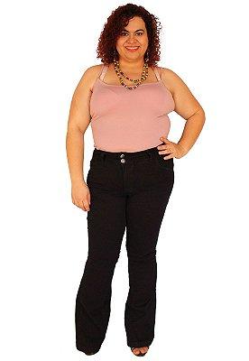 Calça Flare ZENDAIA Jeans Black