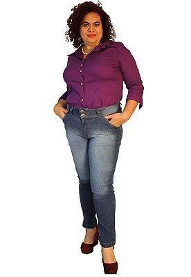 Calça Jeans Super skinny strech  Jeans Intense Blue - BRUNA