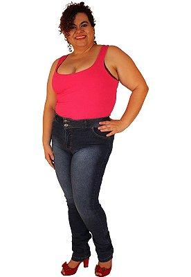 Calça Skinny JULES Jeans Lavagem Stone Plus Size