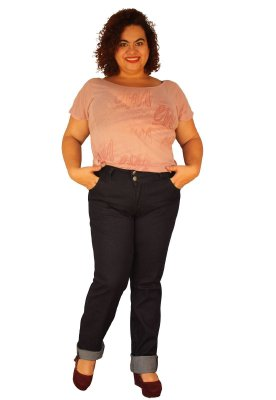 Calça Skinny Jeans Strech TRINITY Cor: 61-Intense Dark