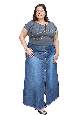Saia Loga jeans com botões Tam: 48-50-52 CLEMENTINE Tam: 48; 50; 52