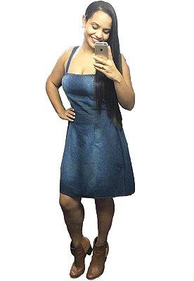 Vestido Jeans Alças WONDER Plus Size Do 38 Ao 46 com elastico na cintura