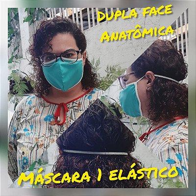 Máscara de tecido Anatômica Modelo Conforto de algodão 1 unidade cores e estampas variadas