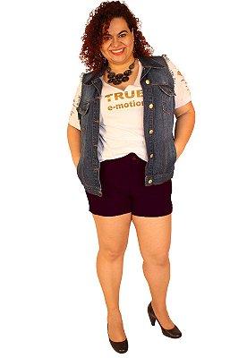 Shorts EM MALHA DE BENGALINE LADY 01-preto