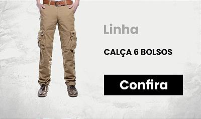 CALÇA CARGO 6 BOLSOS