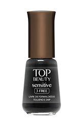 Esmalte Sensitive 3 Free Top Beauty Noir 9ml