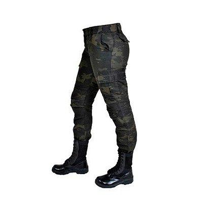 Calça Feminina Camuflada Multicam Black Estonada