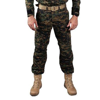 Calça Masculina Combat Camuflada Digital Serra Marpat Bélica