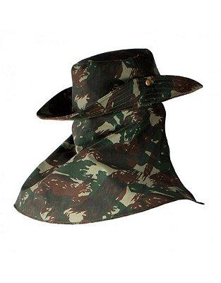 Chapéu camuflado EB com Protetor