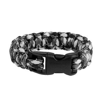 Pulseira Bracelete de Sobrevivência survival - Preto e Branco