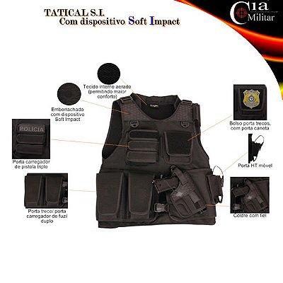 Colete Tactical Soft Impact SI Cia Militar