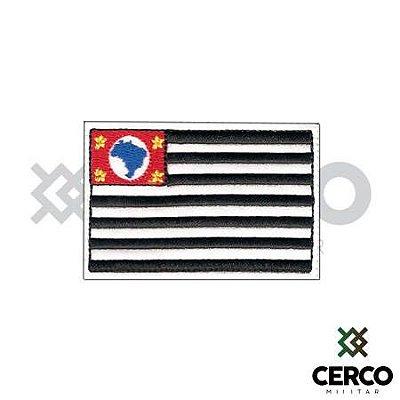 Bordado Termocolante Bandeira de São Paulo