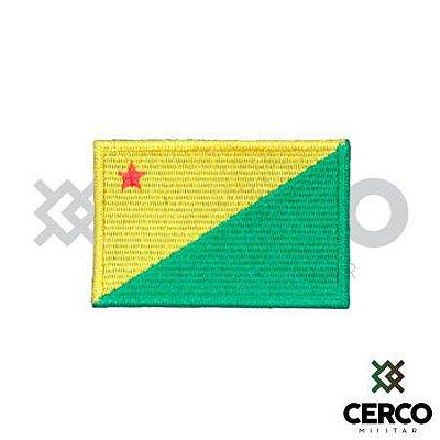 Bordado Termocolante Bandeira do Acre