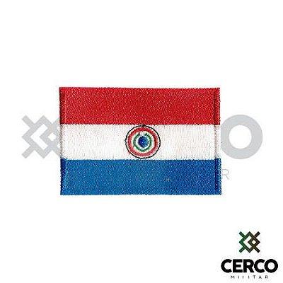 Bordado Termocolante Bandeira do Paraguai