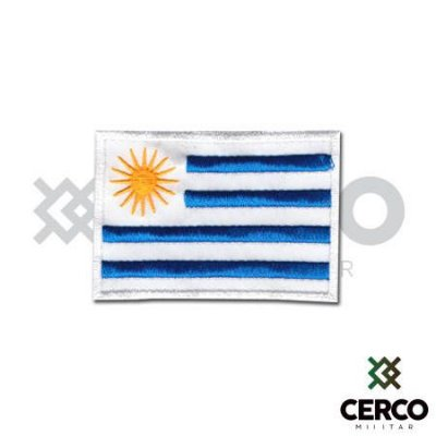 Bordado Termocolante Bandeira do Uruguai
