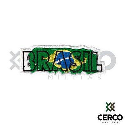 Bordado Termocolante Brasil Escrito
