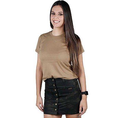 Camiseta Feminina Soldier Bélica Coyote