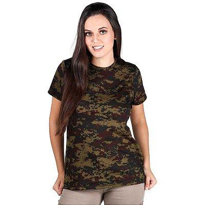Camiseta Feminina Soldier Bélica Digital Argila