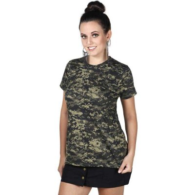 Camiseta Feminina Soldier Bélica Digital Pântano