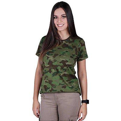 Camiseta Feminina Soldier Bélica Tropic