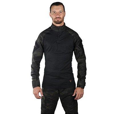 Combat Shirt Masculina Bélica Multicam Black