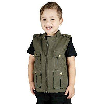 Colete Infantil Army Treme Terra Verde