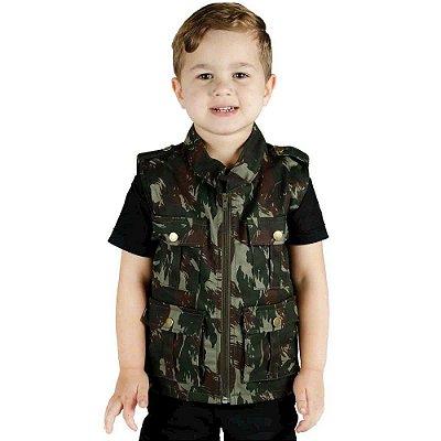 Colete Infantil Army Treme Terra Camuflado Exército Brasileiro (EB)