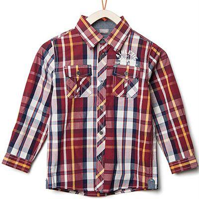 Camisa Infantil Menino Brandili Mundi Bordo