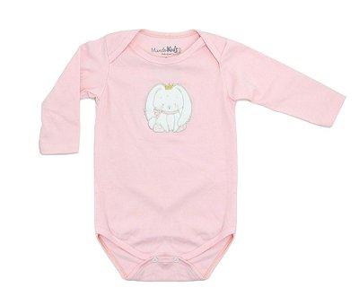 Body baby coelha rosa