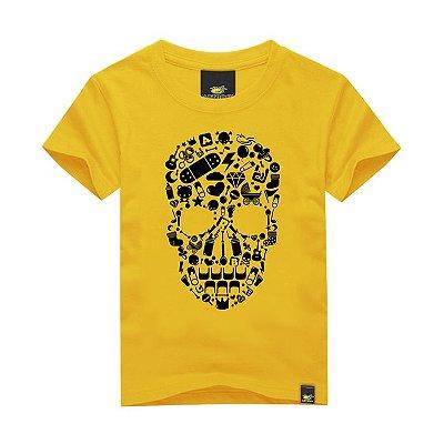 Camiseta Infantil Skull Elements