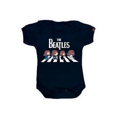Body Bebê Beatles Azul Marinho