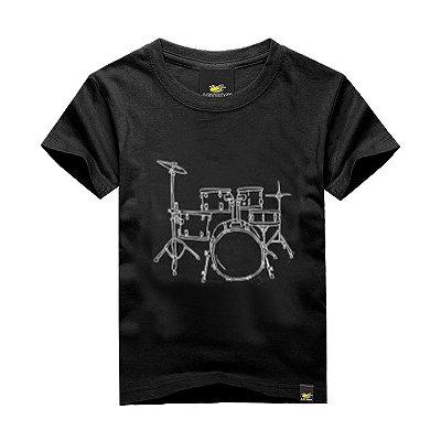 Camiseta Infantil Line Drum