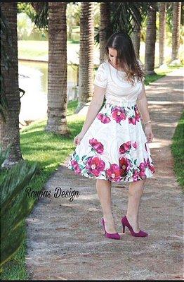 Vestido princesa em neoprene  - Alice