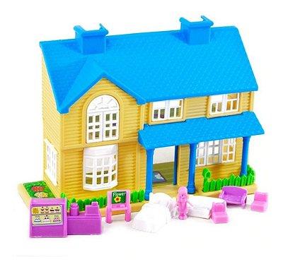 Casinha De Brinquedo Com Móveis Meninas Casa Dos Sonhos