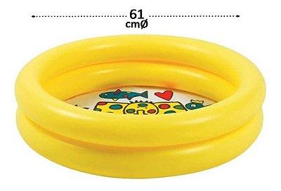 Piscina Inflável 28 Litros Verão Criança Praia Casa Amarela