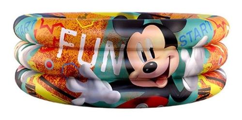 Piscina Inflável Mickey Disney Infantil 100 Litros 86x20 Cm