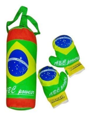 Kit Completo De Boxe Campeões Brasileiro Infantil Com Luvas
